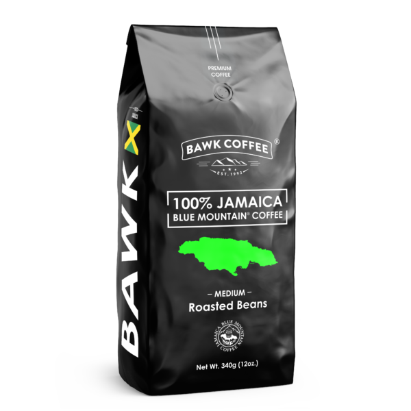 BAWK Coffee 100% Jamaica Blue Mountain Coffee 12oz Roasted Beans