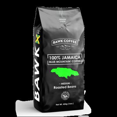 BAWK Coffee 100% Jamaica Blue Mountain Coffee 16oz Roasted Beans
